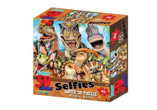 Prime3D Prime 3D Puzzle Selfie dinosaurs 63 st