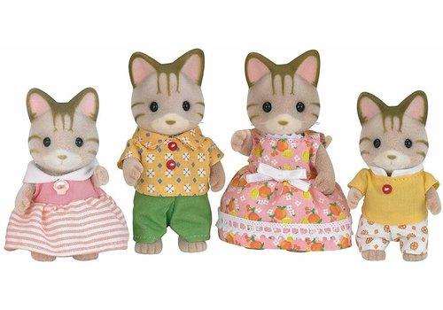 Sylvanian Families Sylvanian Families Striped Cat Family