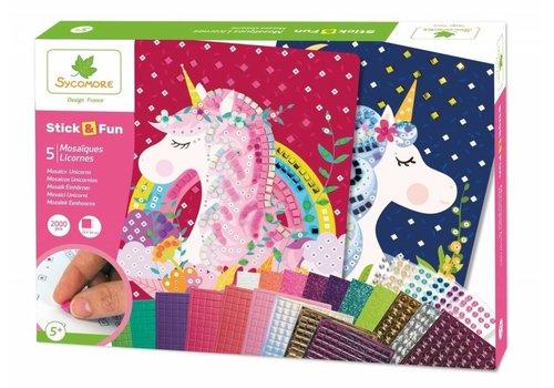 Sycomore Sycomore Stick & Fun Mosaics Unicorn 2000 pcs