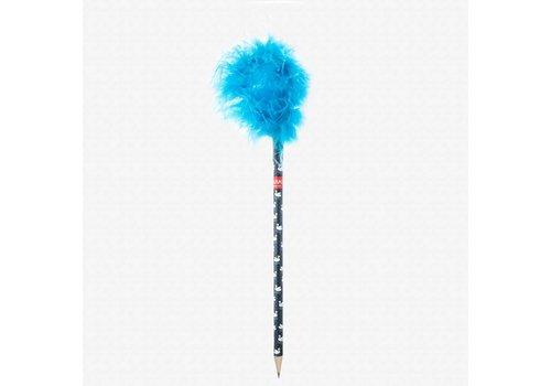 Legami Legami Fluffy Potlood - Blauw