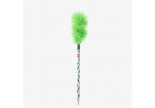 Legami Legami Fluffy Pencil Green