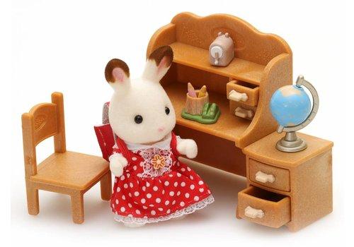 Sylvanian Families Sylvanian Families Chocolate Rabbit Sister Set with Desk