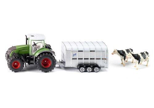 Siku Siku Tractor with Livestock Trailer