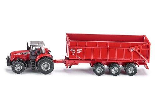 Siku Siku Tracteur Massey Ferguson Met Aanhangwagen
