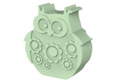 Blafre Blafre Lunchbox Owl Light Green