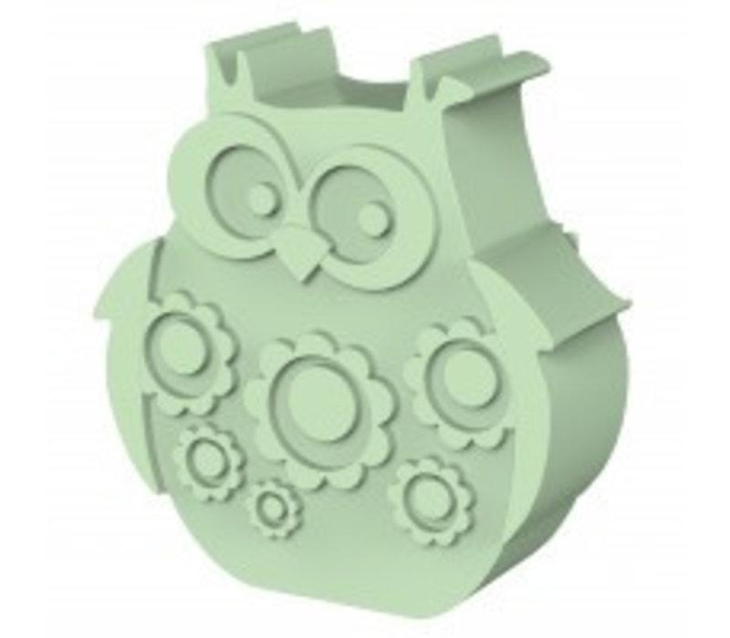 Blafre Lunchbox Owl Light Green
