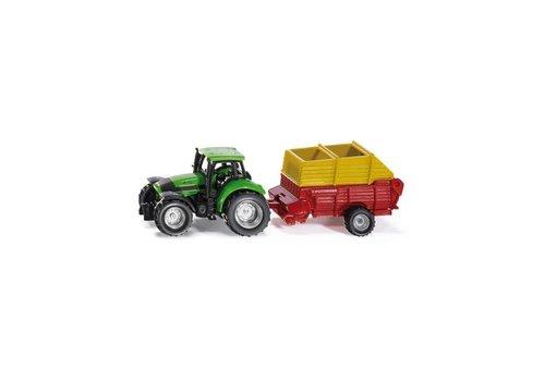 Siku Siku Tractor met Pöttinger laadwagen