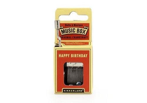 Kikkerland Kikkerland Musical Box Happy Birthday