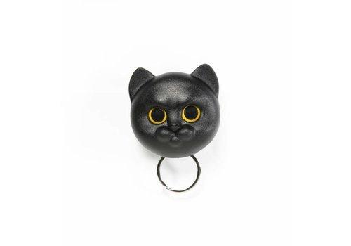 Qualy Qualy Neko Cat Sleutelhanger Zwart