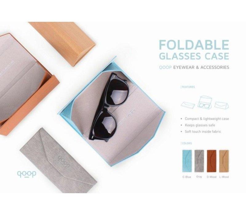 Alife QP Opvouwbare Brillenetui Houtkleur Licht