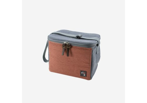 Rixx Rixx Cooling Bag DarkBlue/OrangeBrown 5L