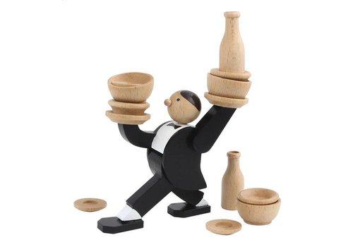 Kikkerland Kikkerland Stacking Game Don't Tip The Waiter