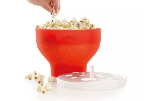 LEKUE Lekue Foldable Popcorn Maker for Microwave Oven Red