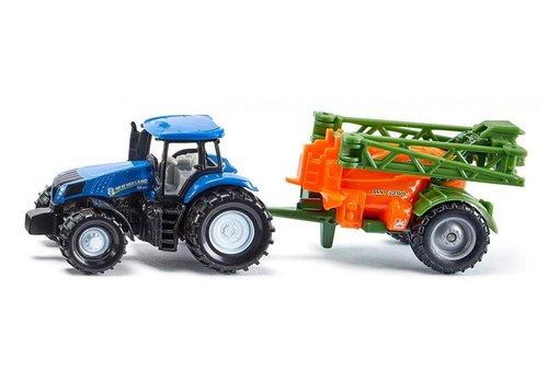Siku Siku Tractor met veldspuitwagen