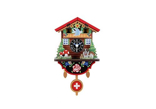 Kikkerland Kikkerland Swiss House Clock