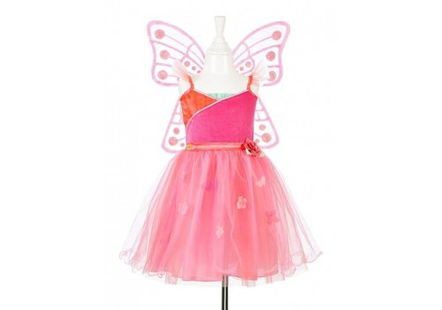 Souza! Souza! Yoline Dress with wings Fuchsia-coral 5-7 years