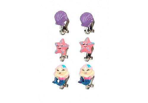 Souza! Souza! Ear Clips Mermaid Set of 3 pairs