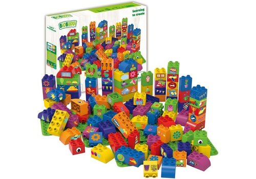 Tactic Biobuddi Blocks 100 pcs with 3 Base plates