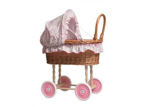 Egmont Toys Egmont Toys Poppenwagen in Riet met Bloemenbekleding