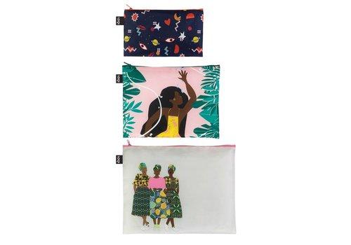 Loqi Loqi Zip Pockets Celeste Wallaert 3 stuks