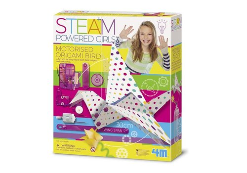 4M 4M Steam: Powered Girls Motorized Origami bird