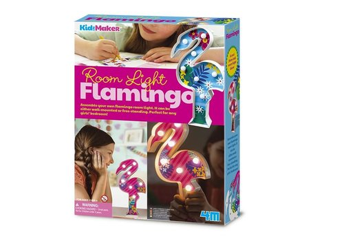 4M 4M KidzMaker: Kamerlamp Flamingo