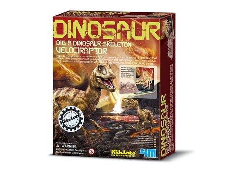 4M 4M KidzLabs Dinosaur Dig a Dinosaur Skeleton: Velociraptor
