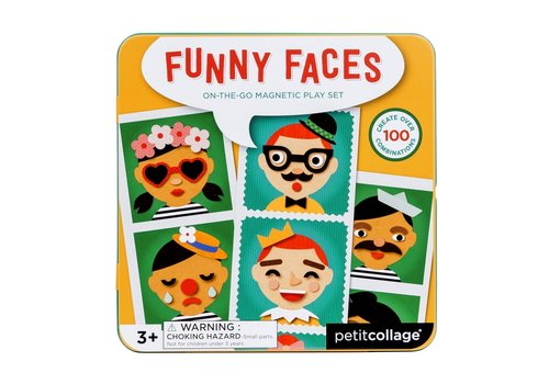 Petit Collage Petit Collage Magnetisch Spel On-The-Go: Funny Faces