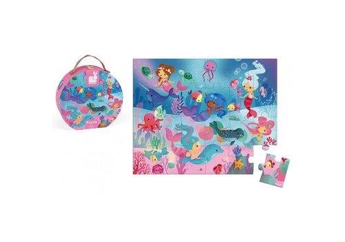Janod Janod Puzzle Case Mermaids 24 pcs