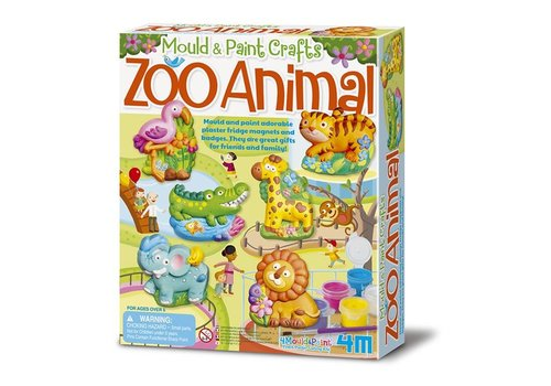 4M 4M Crea Mould  & Paint Zoo Animal