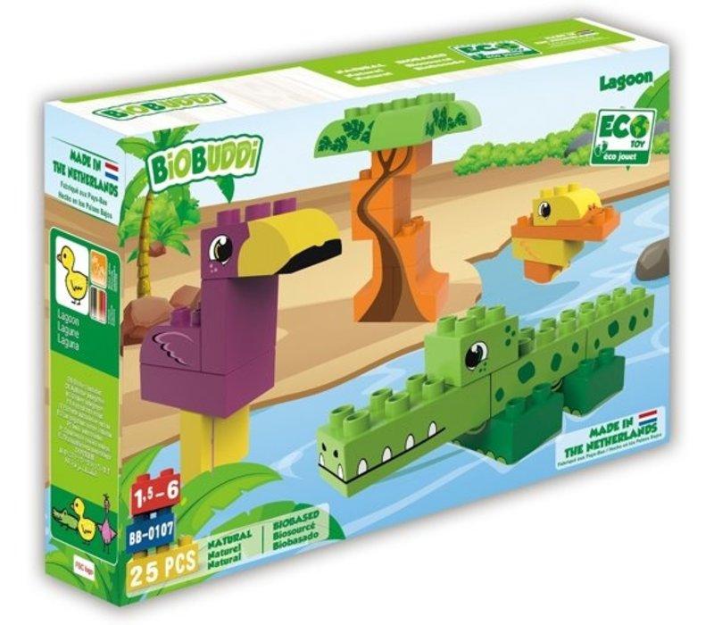 Biobuddi Wildlife Lagoon Building Blocks Set 25 pcs