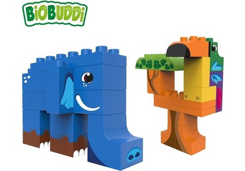 Biobuddi Biobuddi Wildlife Jungle Bouwblokken Set 27 st