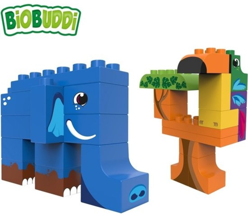 Biobuddi Wildlife Jungle Building Blocks Set 27 pcs