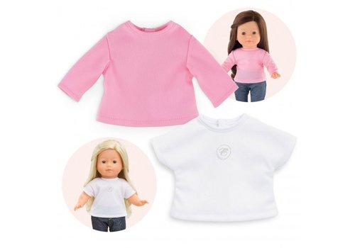 Corolle Corolle Ma Corolle Set of  2 T-shirts White & Pink