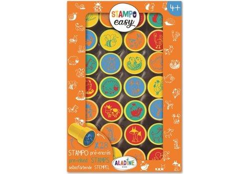 Aladine Aladine Stampo Easy Stamps Farm Animals 28 pcs
