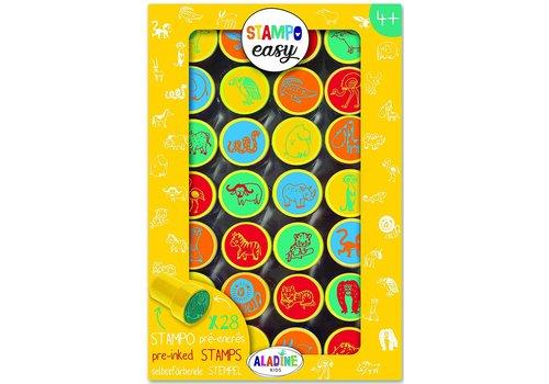 Aladine Aladine Stampo Easy Stamps Savanna Animals 28 pcs