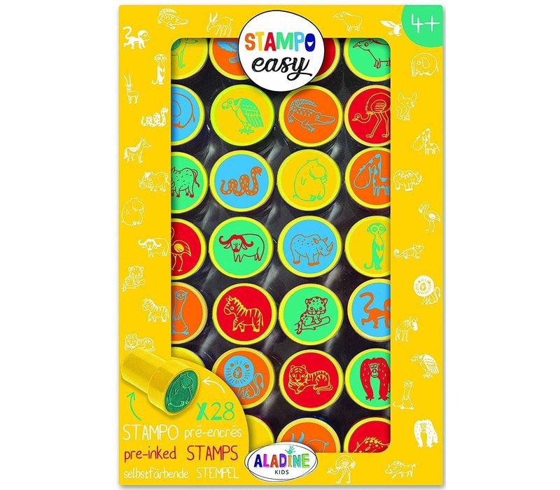Aladine Stampo Easy Stempels Dieren van de Savanne 28 st
