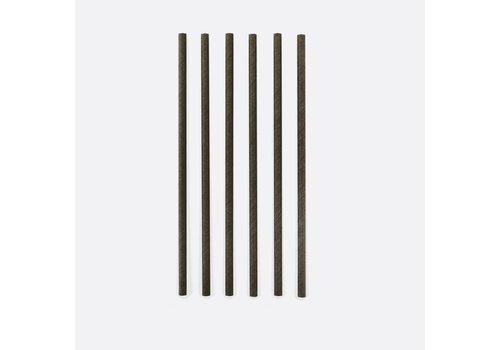 Point-Virgule Point Virgule  Set van 48 Papieren Rietjes Zwart