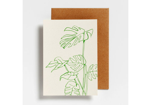 Hello August Hello August Postcard Monstera