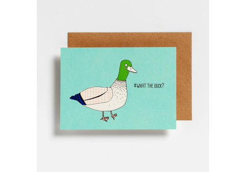 Hello August Hello August Postkaart #What The Duck?