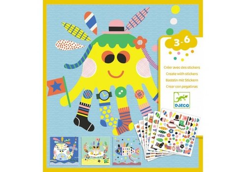 Djeco Djeco Creëren met Stickers - Zeedieren