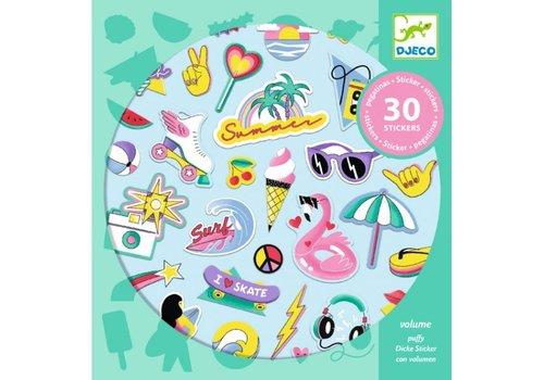 Djeco Djeco  Puffy Stickers Californië 30 st