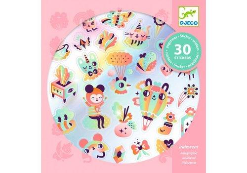 Djeco Djeco Holographic Stickers Lovely Rainbow 30 pcs