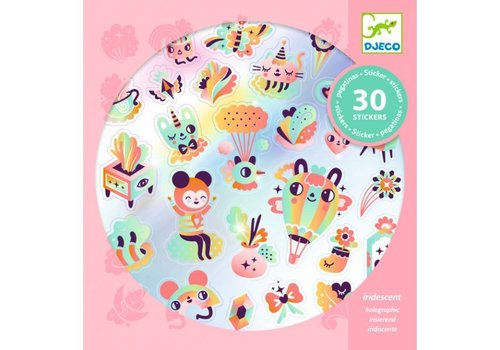 Djeco Djeco  Iriserende Stickers Lovely Rainbow 30 st