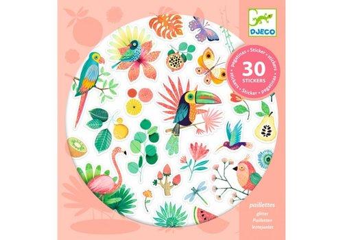 Djeco Djeco Glitter Stickers Paradise 30 pcs