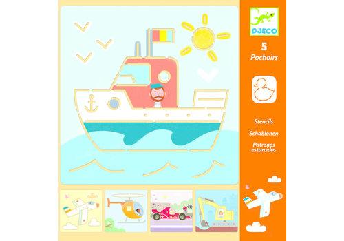 Djeco Djeco Stencils Transports & Co