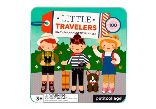 Petit Collage Petit Collage On-The-Go Magnetic Play Set: Little Travelers