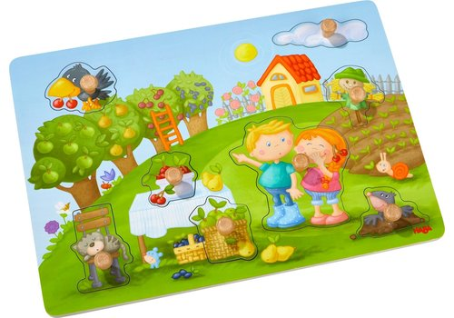 Haba Haba Clutching Puzzle Orchard