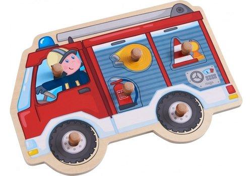 Haba Haba Inlegpuzzel Brandweerwagen