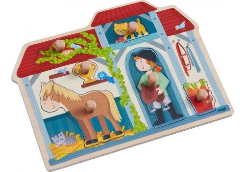 Haba Haba Inlegpuzzel In de Paardenstal